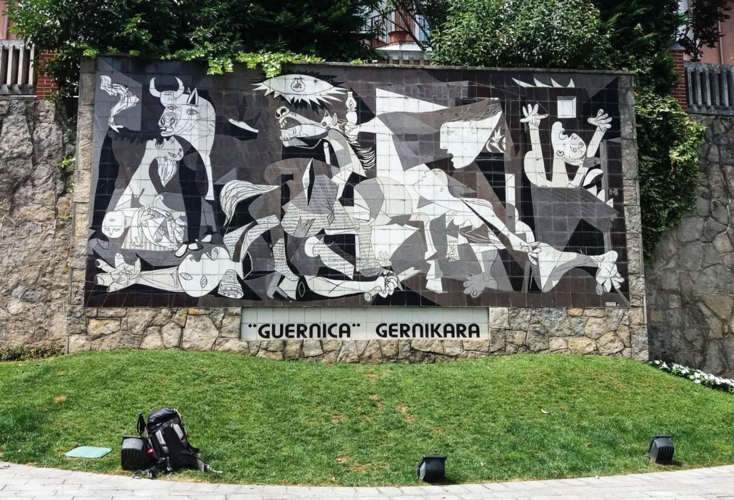 Day 9. The horrors of war, the horrors of the Camino, Guernica