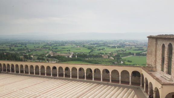 View from the Basilica di San Francesco at Assisi