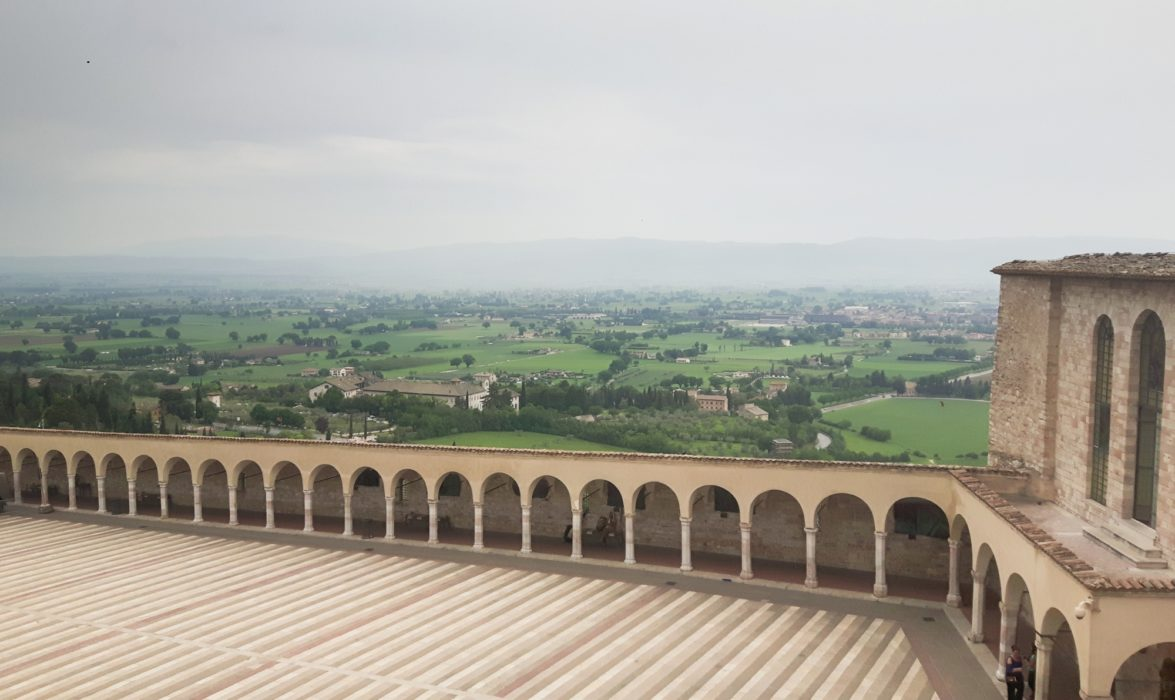 View from the Basilica di San Francesco at Assisi