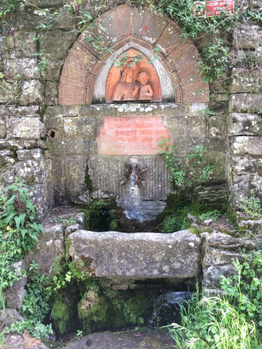 Water fountain and shrine near the village of Ferrano