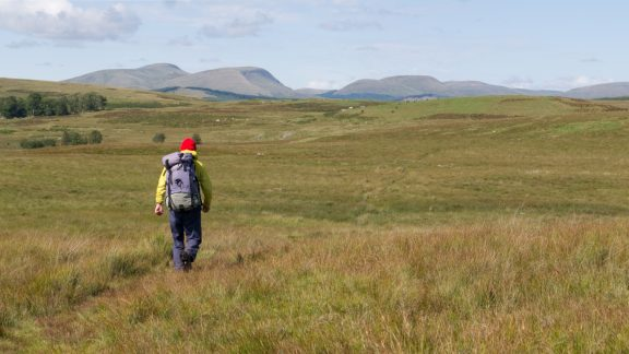 Barlaes moor, heading north towards Cairnsmore of Carsphairn (Stage 5)