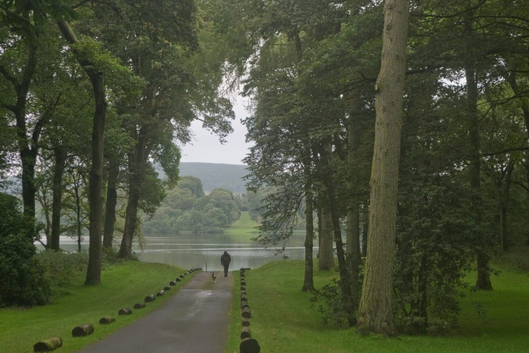 Leaving Castle Kennedy in the rain (Stage 2)