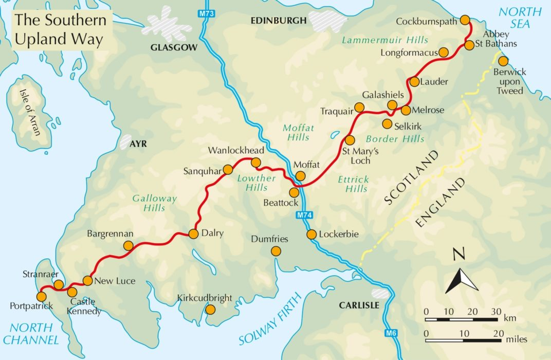 The overview map of the route