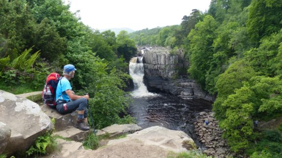 High Force on the beautiful River Tees (Day 4 - day 11 & 12 in the guide).