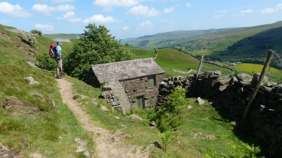 Traversing Kisdon Hill to the delightful hamlet of Keld (Day 2 - day 9 in the guide).