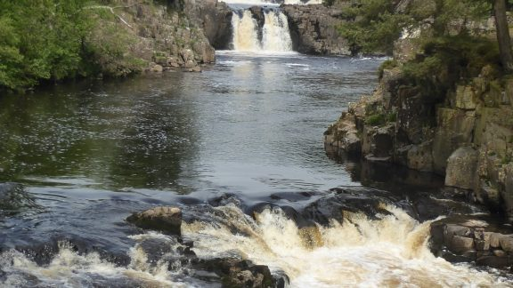 Low Force falls on the beautiful River Tees (Day 4 - day 11 & 12 in the guide).