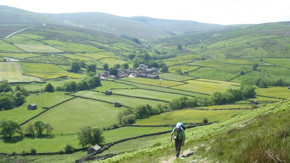 After a good lunch in the idyllic village of Thwaite seen here, the way continues over Kisdon Hill to the delightful hamlet of Keld (Day 2 - day 9 in the guide).