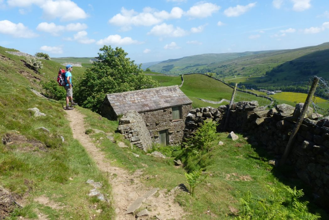 Traversing Kisdon Hill to the delightful hamlet of Keld (Day 2 - day 9 in the guide).