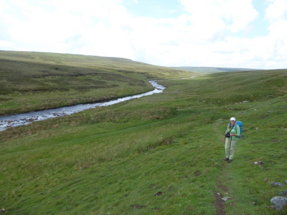 Midday on the moors following Maize Beck to its headwaters. (Day 5 - day 13 in the guide).