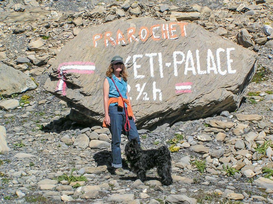 Sabine and Khampa in the Valais, Switzerland