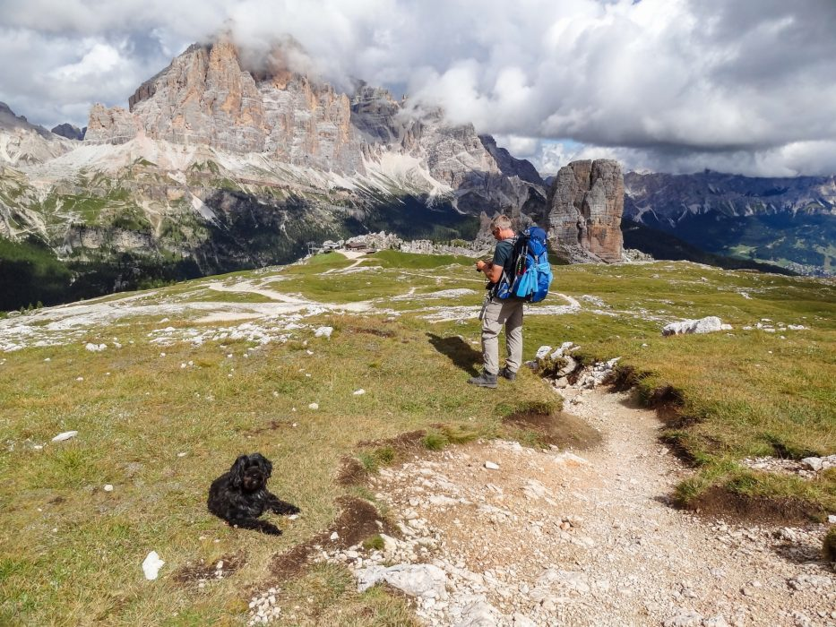The Dolomite Mountain Trail No 1 is one of many long-distance walks we have done with our dog