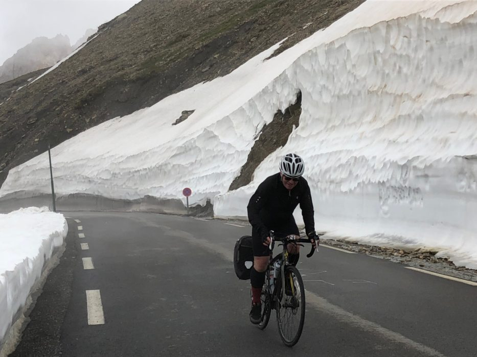 Climbing towards the top of the Col du Galibier