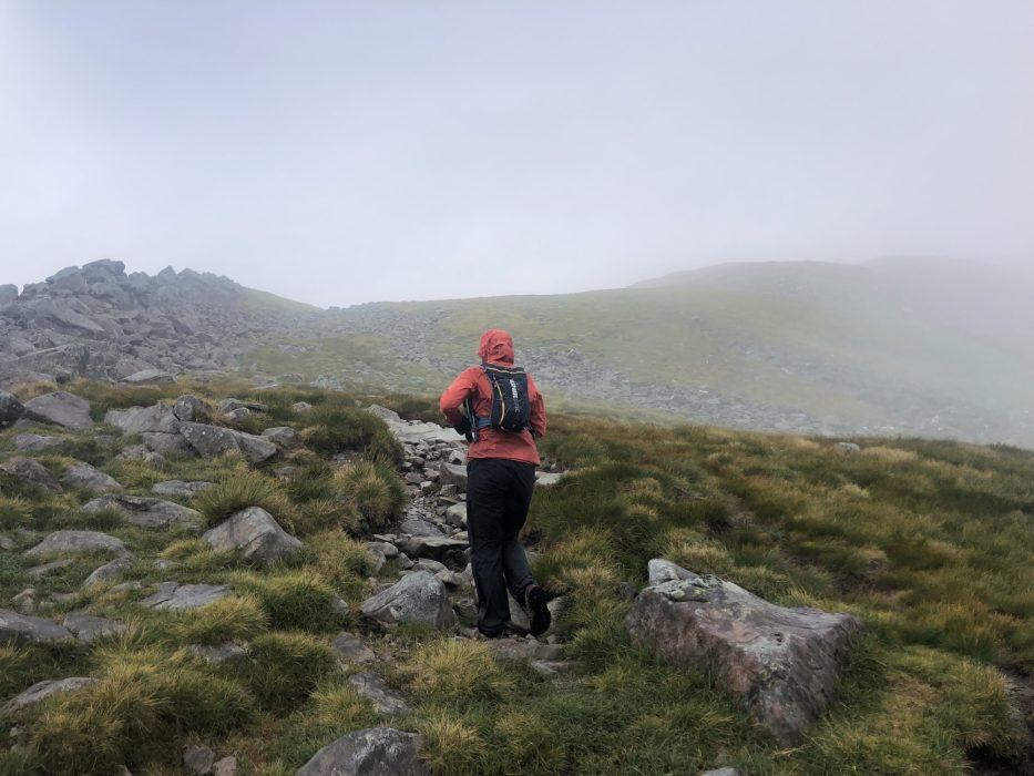 Caroline On The Penultimate Climb On Stob Coire A Chairn