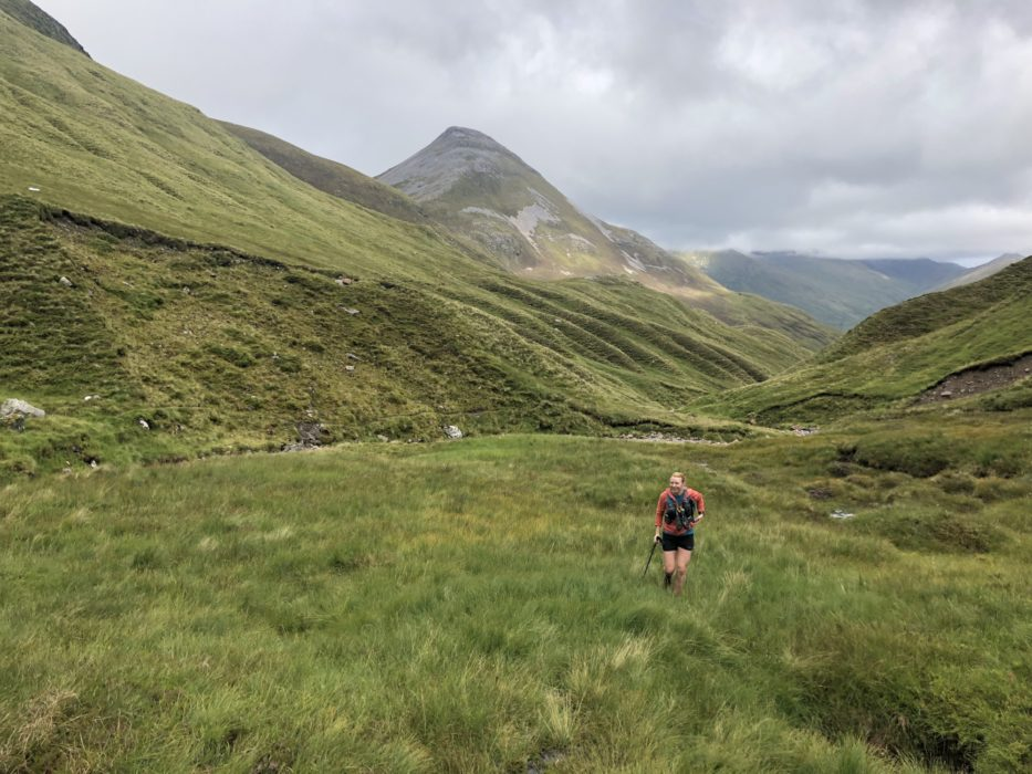 On The Beautiful Section Through The Mamores  Binnean Mor Behind