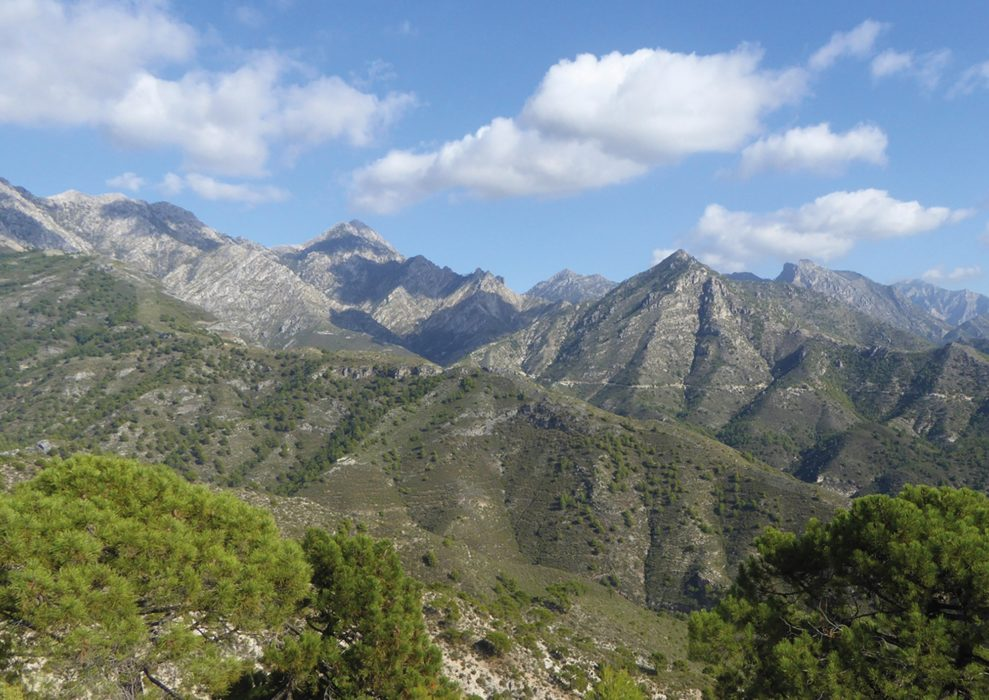 The Sierra de Almijara seen from above Cómpeta (Day 1)