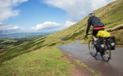 Heading down the Gospel Pass towards Hay-on-Wye