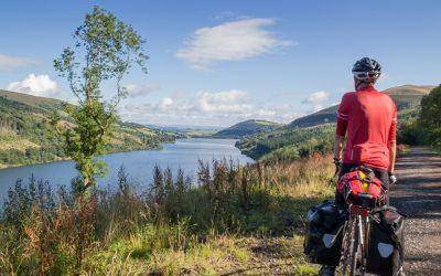 Looking north along Talybont Reservoir