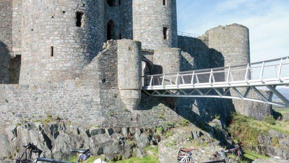 Parked up below Harlech Castle