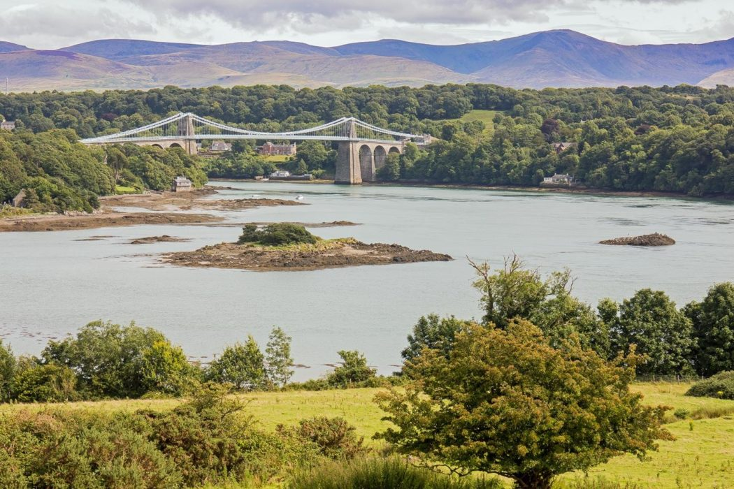 Menai Suspension Bridge from near Llanfair Pwllgwyngyll