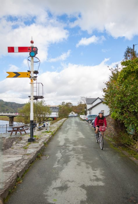 Cyclists on the Mawddach Trail near Penmaenpool