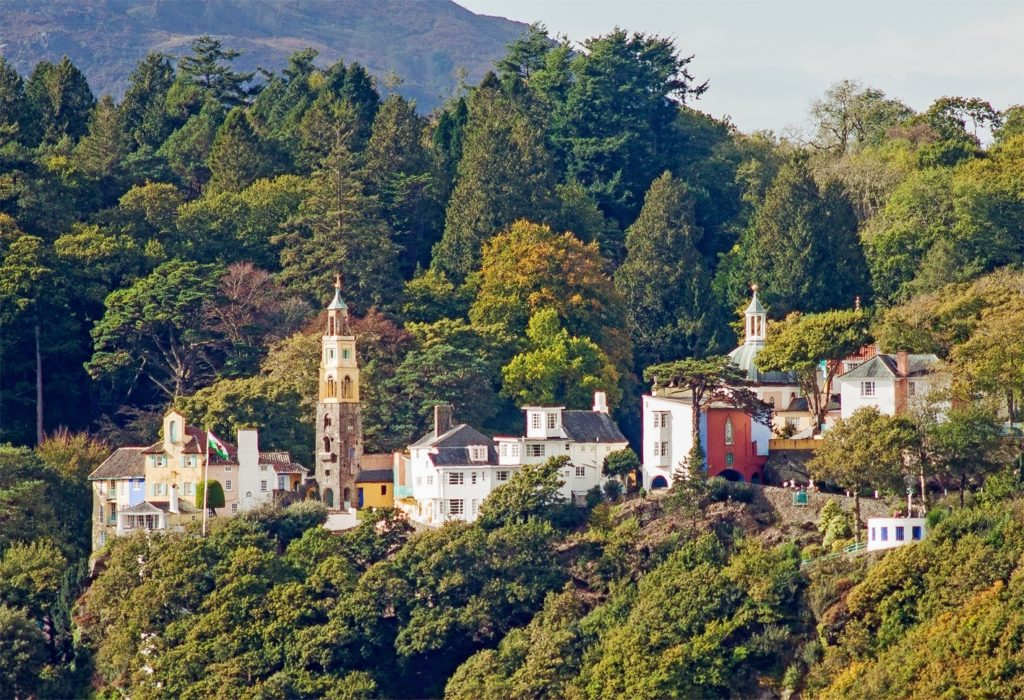 Portmeirion from across the Dwyryd Estuary