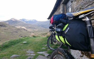 Using a bothy on a multi day bikepacking trip in the northwest highlands of Scotland