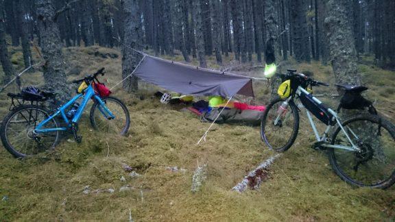 tarp arrangement for a short overnight trip