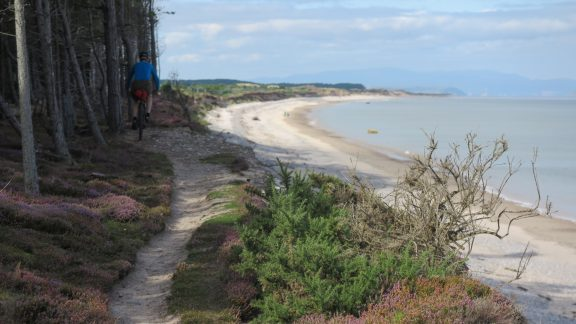 incredibly varied terrain on day 2 of The Moray Trail