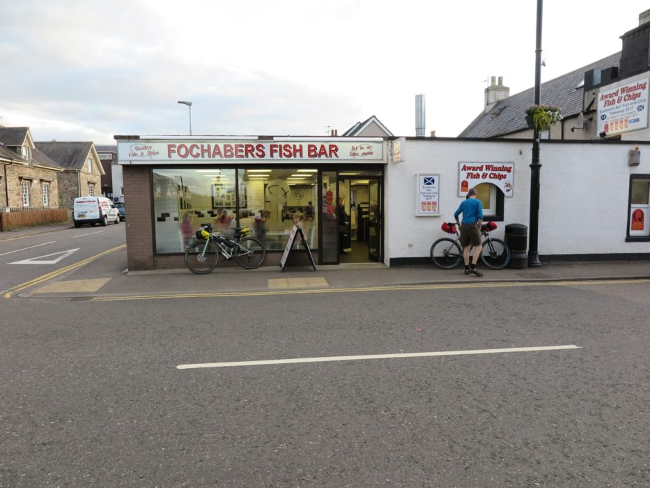 Taking advantage of stops on the way can help reduce carrying heavy loads of food