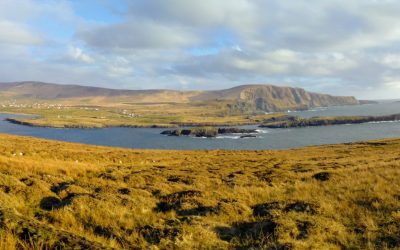 Portmagee and the Kerry Cliffs from the track to Bray Head