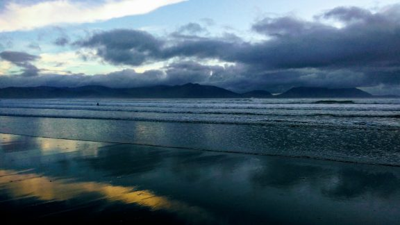 Inch Beach and the hills of Iveragh