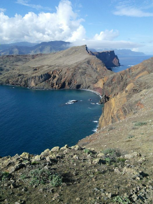 A splendid rocky ridge forms the peninsula of Ponta de São Lourenço