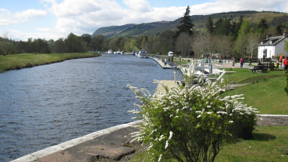 Closing in on Fort Augustus on the Caledonian Canal