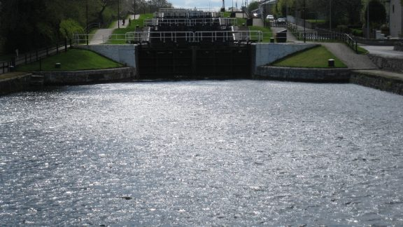 The impressive Lock system at Fort Augustus