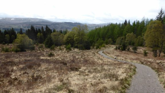 The high route leading away from Invermoriston