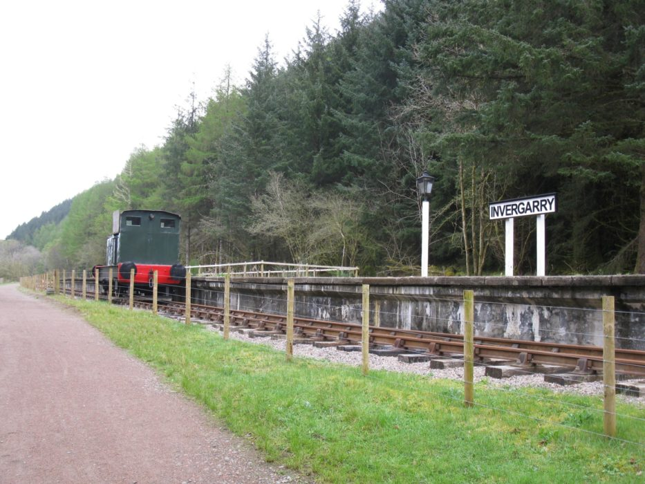 Invergarry railway station, currently undergoing restoration