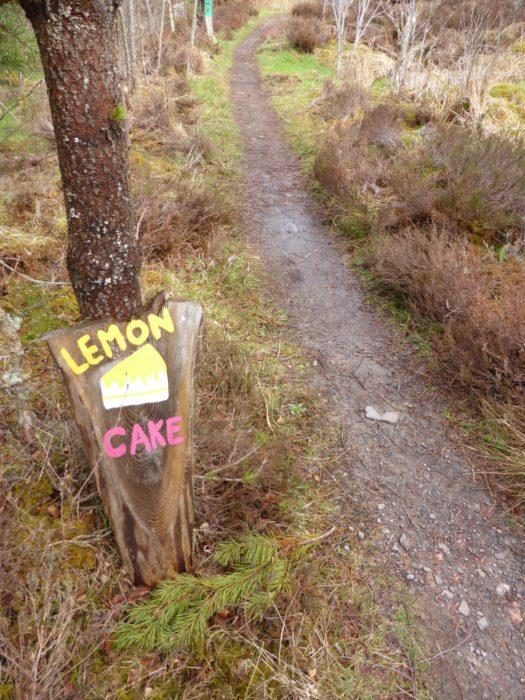 Enticing signs near the eco-cafe near Abriachan
