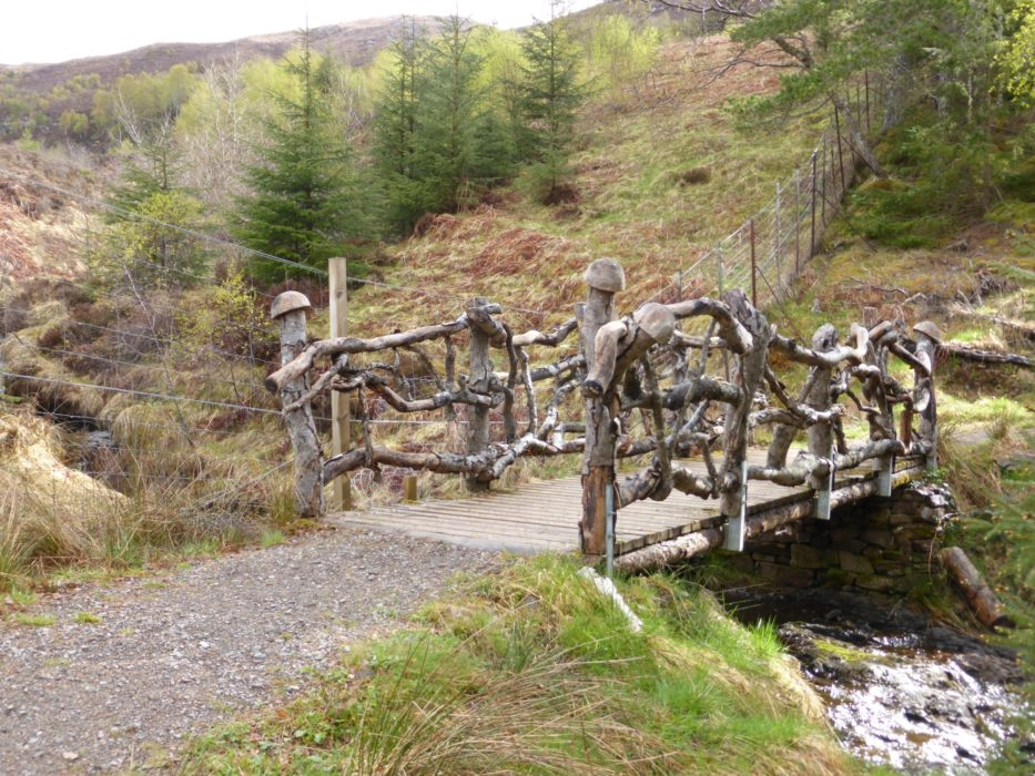 The troll bridge on the high route heading towards Drumnadrochit