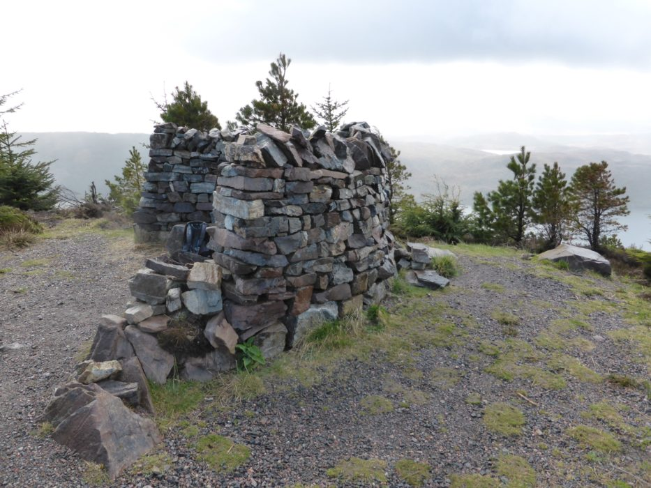 Wind shelter, shortly after passing the highest point on the route