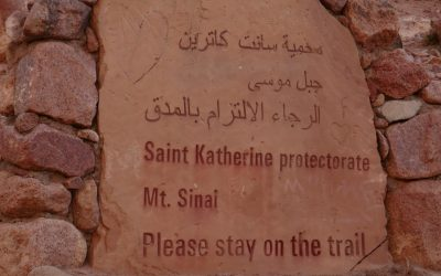 Sign at the bottom of Mt Sinai