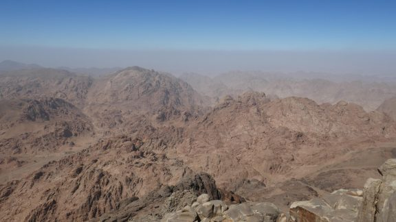 View across Sinai from Mt Caterina
