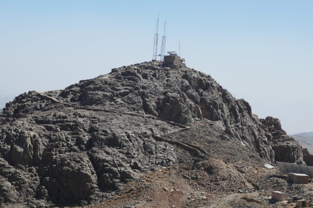 Communications mast on the secondary summit of Mt Caterina