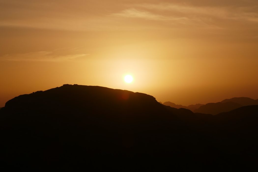 Sunset on Mount Sinai