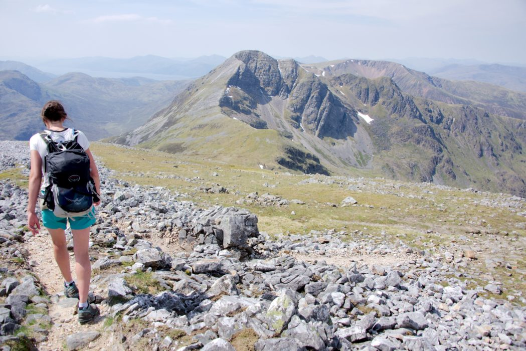 Descending towards Stob Ban after having completed the Ring of Steall