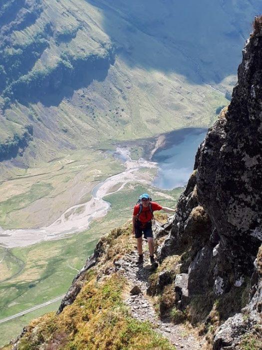 On the steep approach to the Aonach Eagach