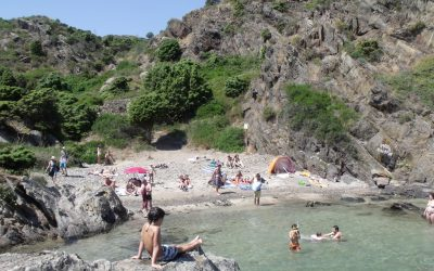 Small beach at Cala Jugadora