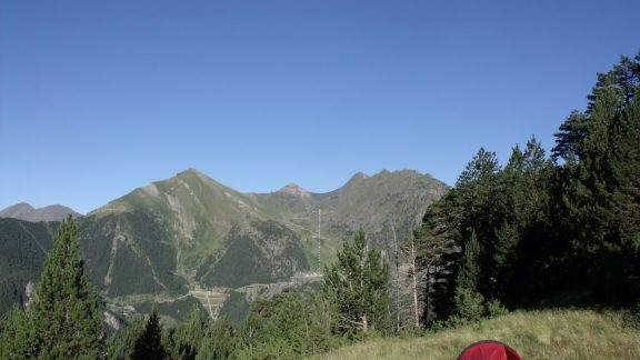 Camping at Coll de les Cases, Andorra