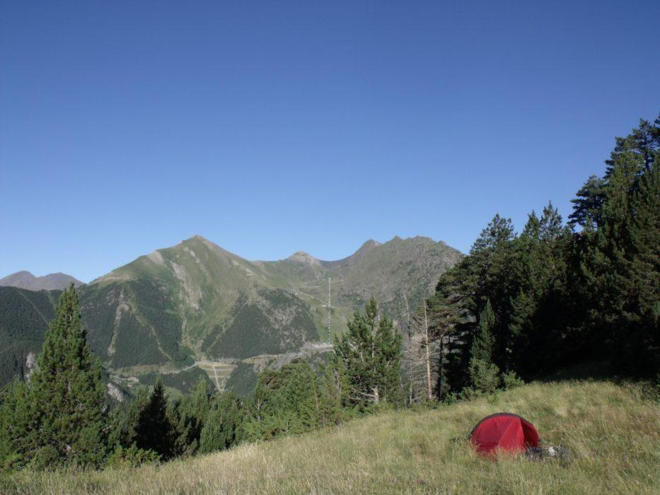 Camping at Coll de les Cases, Andorra