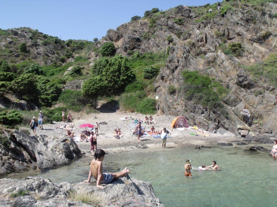 Small beach at Cala Jugadora
