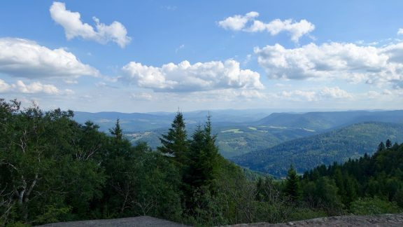 The view from Le Donon (1008m) (Alsace)